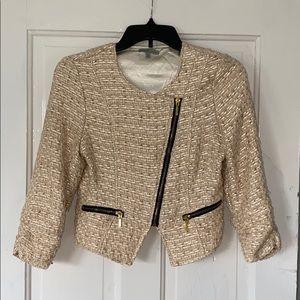 Charlotte Russe glamorous woven blazer